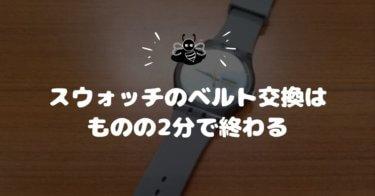 【動画あり】スウォッチ(Swatch NewGent)のベルト交換方法。2分で簡単にできました。